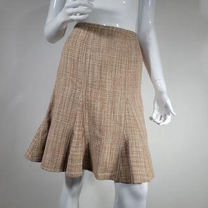 BCBGMaxazria Beige Silk Tweed Skirt BUNDLE&SAVE!